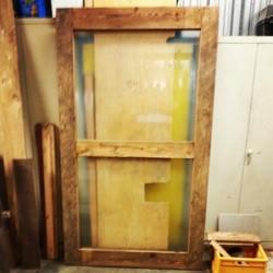 Porte coulissante en bois de grange for Decoration porte de grange